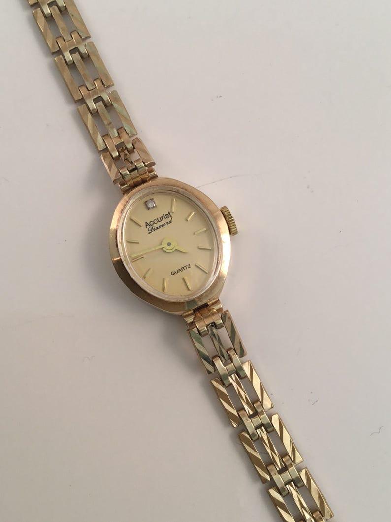 Gold Watch Accurist 9ct Ladies