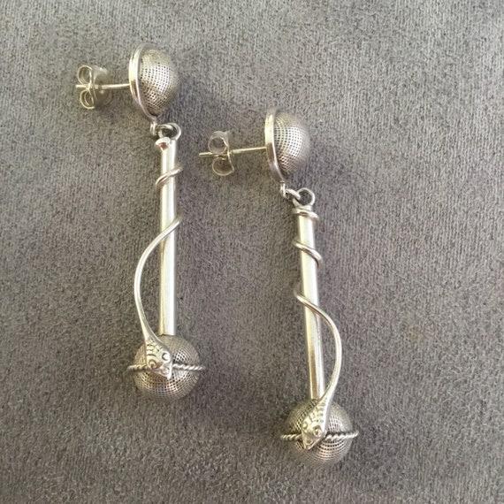 Avant garde drop earrings, avant garde earrings, s