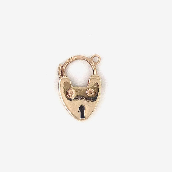 Vintage gold padlock, heart padlock, gold heart lo