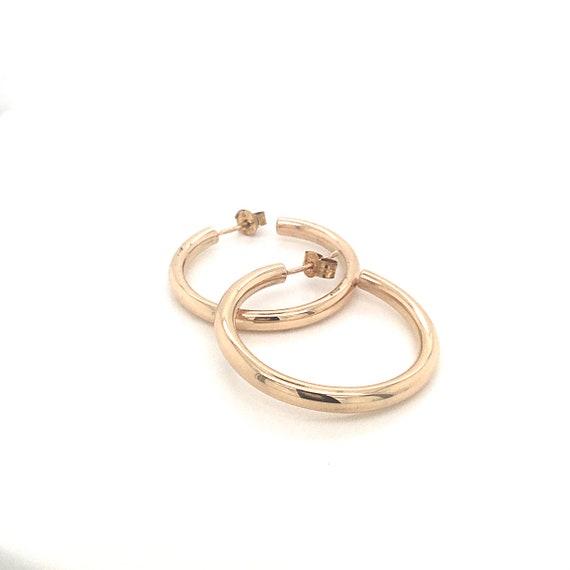 Large gold hoop earrings, stud hoop earrings, vint