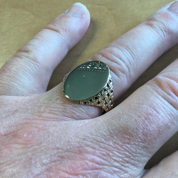 Large oval signet ring,oval signet ring,personalis