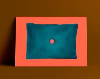 Decorative Buttoned Pillow Art Print