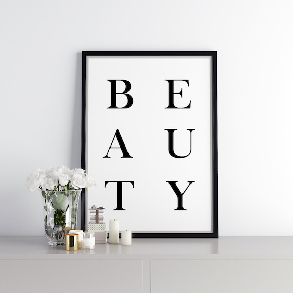 Beauty Wall Art Print Beauty Room Decor Ideas Etsy