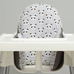 Panda IKEA High Chair Cover, IKEA Antilop High Chair Cushion Cover, Pillow Slipcover, High Chair Pad, With or Without Cushion, IKEA Pyttig