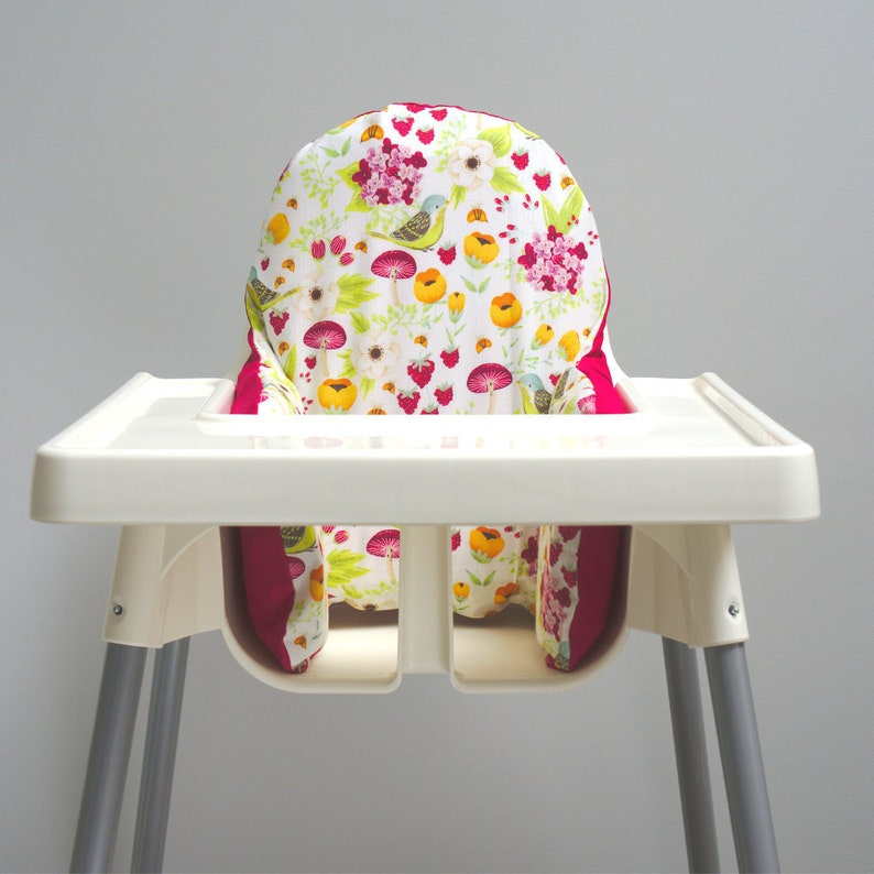Spring Garden Floral IKEA High Chair Cushion Cover image 0