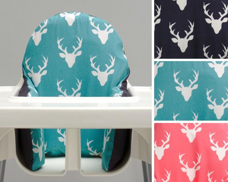 Woodland Oh Deer Buck Antlers IKEA High Chair Cover Modern image 0
