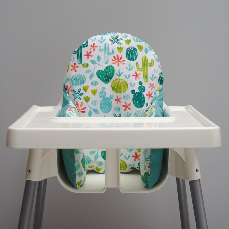 Fiesta First Birthday Baby Cactus Decor IKEA High Chair image 0