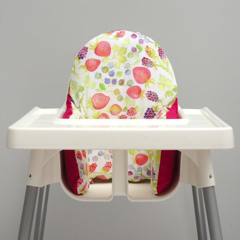 Watercolour Berries, IKEA High Chair KLÄMMIG Cushion Cover