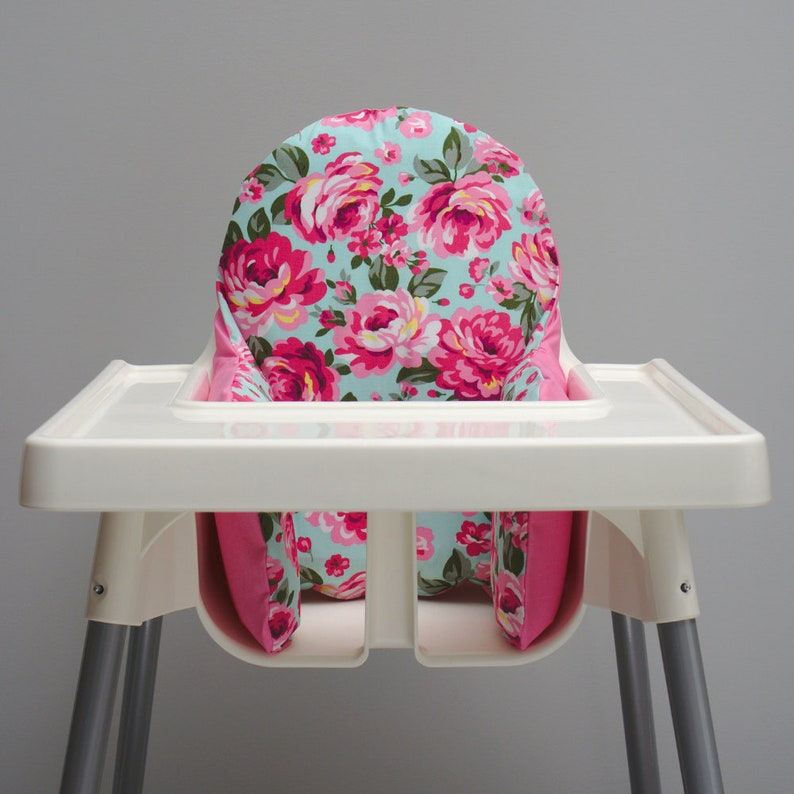 Cute Pink Floral IKEA High Chair Cover IKEA Antilop Cushion image 0