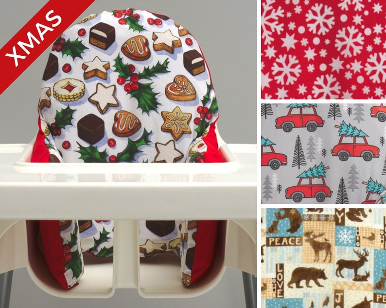 Baby's First Christmas IKEA High Chair Cover My First image 0