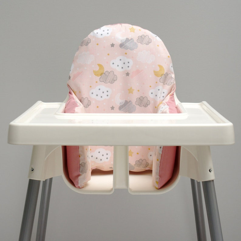 Enjoyable Pink Cloud Ikea High Chair Cover Ikea Antilop Cover Highchair Cover High Chair Cushion Insert Baby Pink Nursery Decor Twinkle Night Sky Machost Co Dining Chair Design Ideas Machostcouk