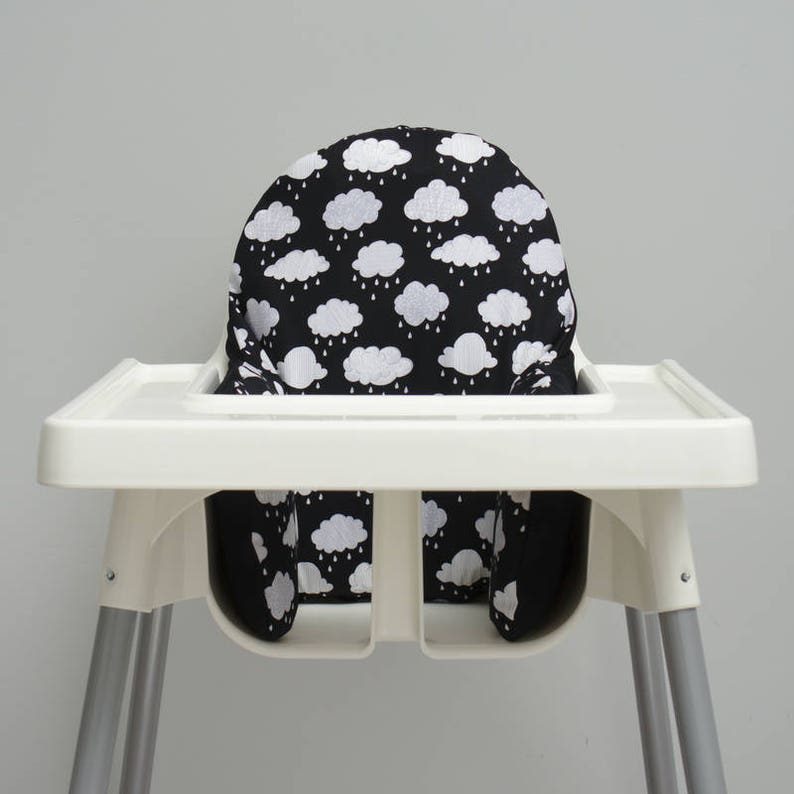 Black Clouds Nursery IKEA Antilop Highchair Cover High Chair image 0