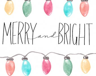 Merry and Bright, Christmas card,