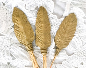 Custom Feather Paintbrushes for Artist, Personalized Art Supplies by Roza Universe