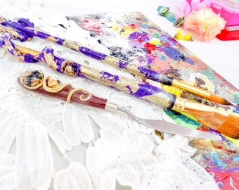 Lux Tentacle Paintbrush Set for Artist | Gifts for Artistic People, Craft Gifts for Adults