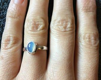 Hachiko. Australian opal silver ring. US size 5.5