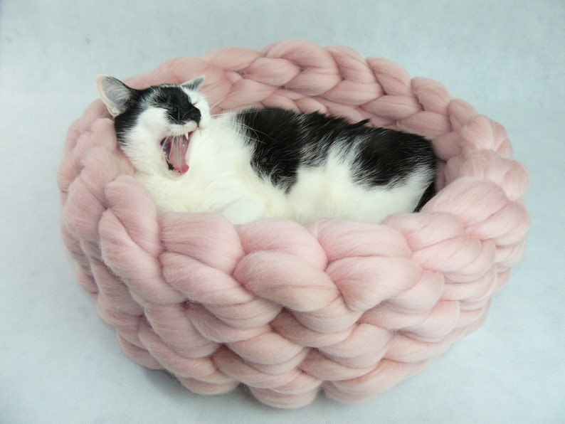Cat Bed Cat House Cat furniture Cat Cave Chunky Cat Bed image 0