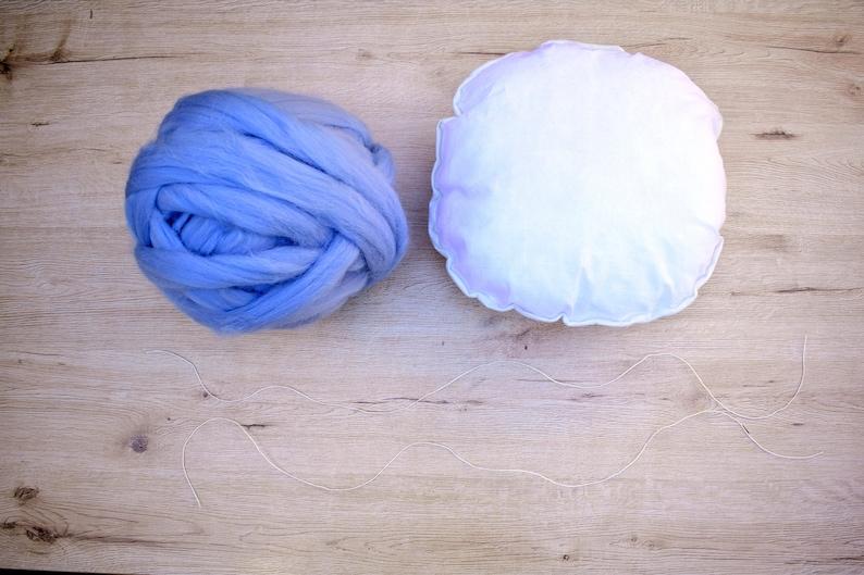 DIY Chunky Knit Pillow Decorative Pillow KIT Decorative image 0