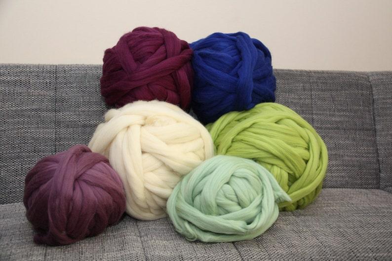 Chunky yarn. Giant knitting. Bulky yarn. Chunky merino wool image 0