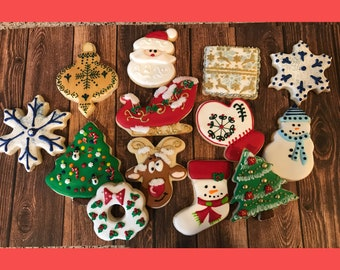 Decorated Christmas Cookies Etsy