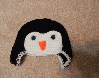 Penguin baby hat