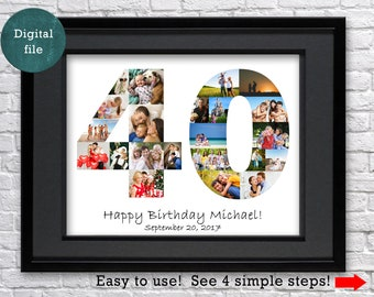 40th Birthday Gift For Man Anniversary Parents Gifts Women Personalized Husband
