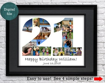 21st Birthday Gift For Her Photo Collage Decorations Twenty One 21 Party Decor Favors