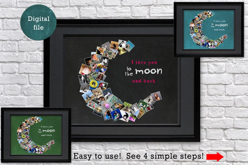 e57e473a56d3b I love you to the moon and back Personalized Birthday gift for