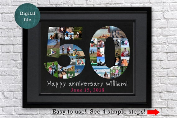 50th Anniversary Gifts For Parents 50th Birthday Gift Ideas Etsy