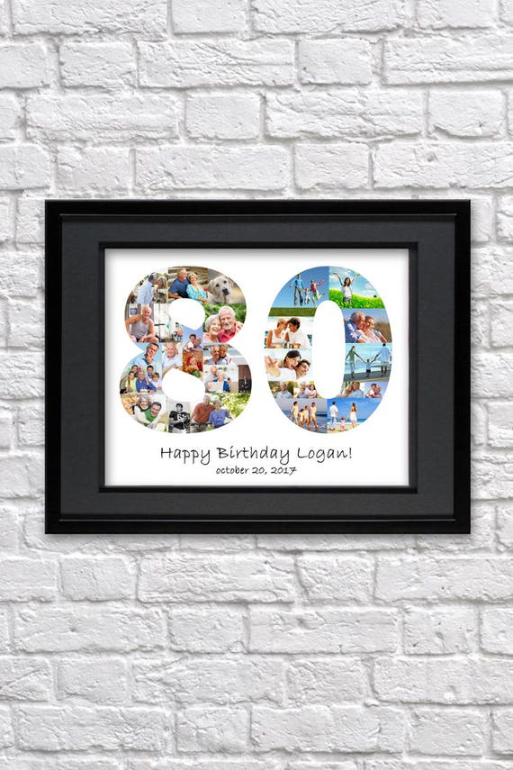 80 Geburtstag Geschenk 80 Geburtstag Dekorationen Große Oma Geschenk Für Oma Geschenk Für Opa Geschenk Für Großvater Geschenk Foto Collage Geschenk