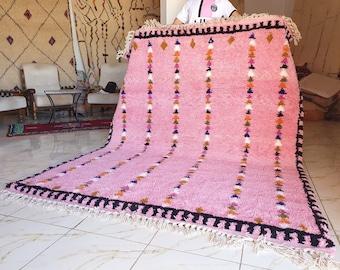 Pink genuine Moroccan Beni Ourain rug Carpet Soft Shag Artistic Oriental checker moroccan rug pink moroccan rug