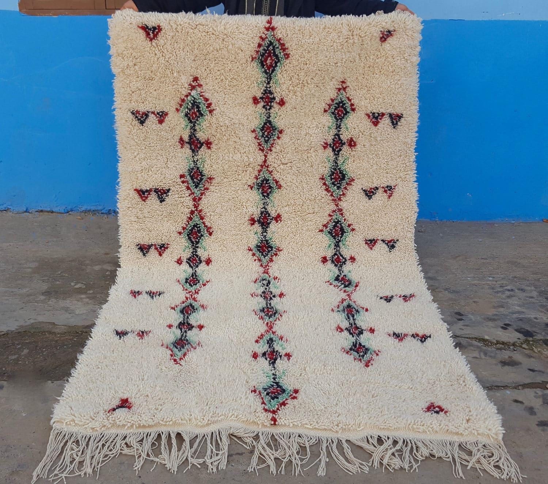 Beni Ourain Handmade Moroccan 100% Wool Rug 82 / 49 Feet