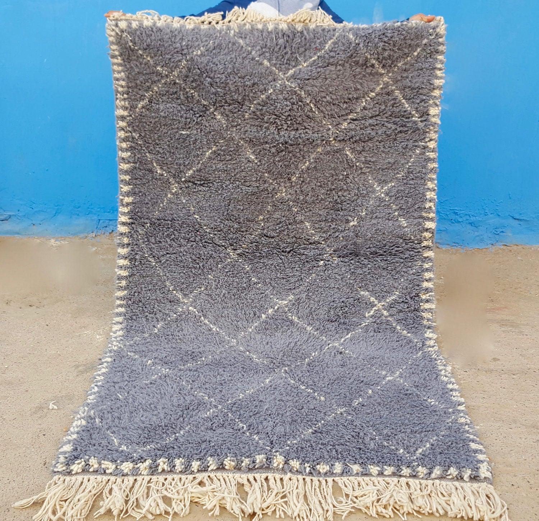 Beni Ourain Rug Handmade Moroccan Rug 100% Wool Rug 73