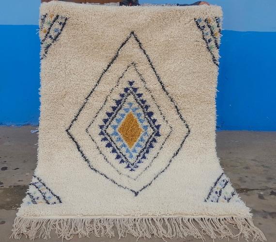 Moroccan Rug Beni Ourain Handmade 100% Wool Rug 78 / 53
