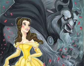 Disney Cross Stitch Pattern Belle and The Beast Embroidery Chart Needlepoint Pattern Printable PDF Instant Download Cross Stitch Design