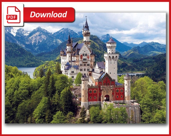 Awe Inspiring Neuschwanstein Castle Cross Stitch Pattern Landscape Large Cross Stitch Chart Cross Stitch Castle Printable Pdf Download Download Free Architecture Designs Scobabritishbridgeorg