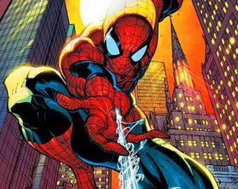 Spider-Man cross stitch pattern - Counted cross stitch chart - Comics cartoon cross stitch - Printable PDF - Instant download - Super hero