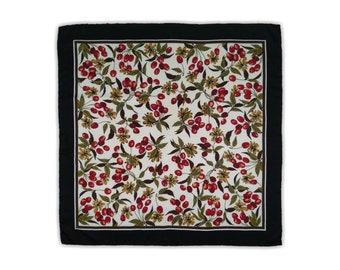 Silk scarf, abstract motif, women's accessories.