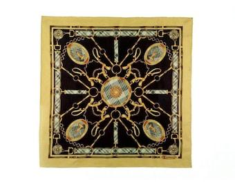Trussardi, small silk scarf, women's accessories.