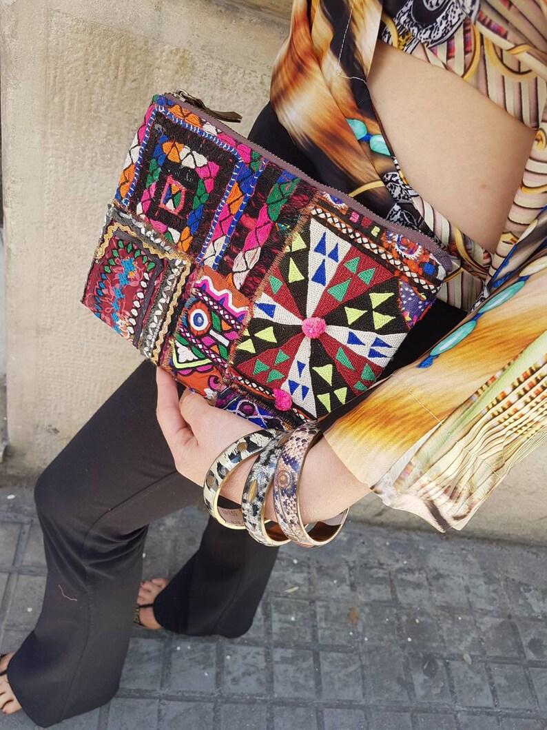 f8fa8ea2b Bolsos clutch de mano étnico boho tribal con espejos y | Etsy
