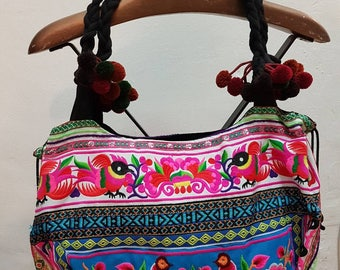 Ethnic bag with embroidery, boho bag, tribal bag
