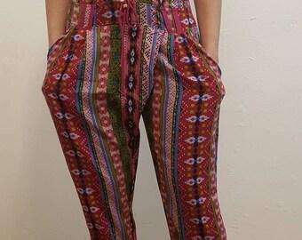 Crep Printed Trousers