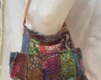 Boho bag, ethnic bag, patchwork bag