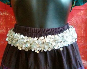 Sequin belt, party belt, Boho belt, dress belt