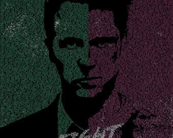 Word Art Poster - Fight Club