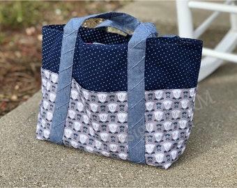 Vegan Leather Bottom Bag Acquamarine Craft Leatherette Purse Notions cm 30x10