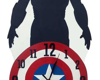 Orologio da parete Civil War - Iron Man + Captain America - Civil War clock