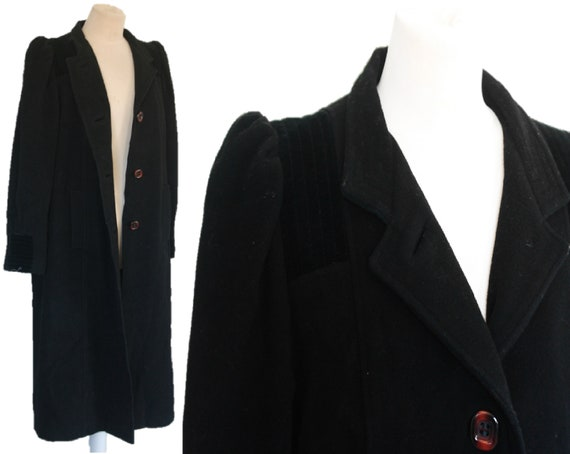 Vintage 80s Wool and Cashmere Coat, Womens Coat