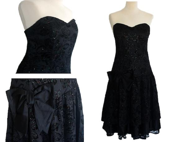 Corset Dress, Strapless Dress, Vintage 80's Corset