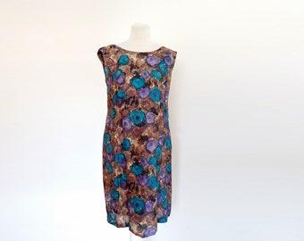 Vintage  60's  Handmade Floral Dress